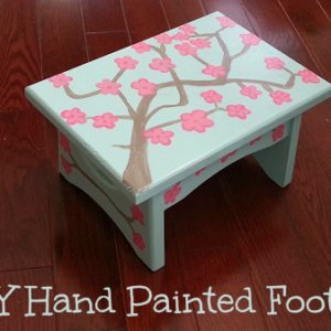 DIY Hand Painted Footstool