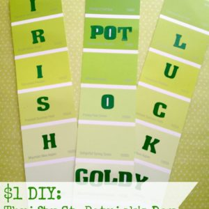 $1 DIY: St. Patrick's Day Bookmarks