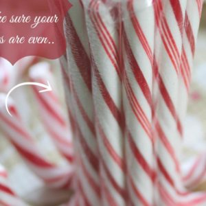 DIY Candy Cane Candle Holder #Crayola
